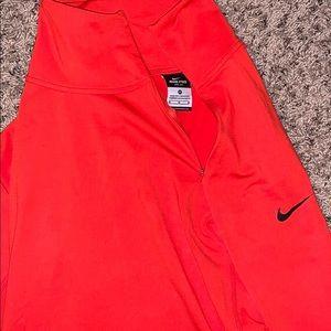 Nike runner long sleeve shirt red size medium